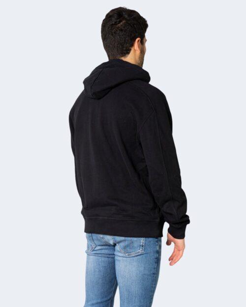 Felpa con cappuccio Calvin Klein Jeans MICRO BRANDING Nero - Foto 4