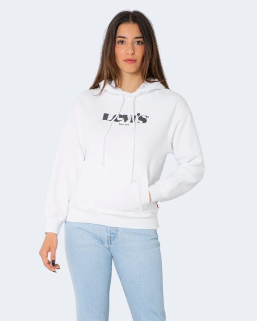 Felpa con cappuccio Levi's® GRAPHIC STANDARD Bianco – 71489