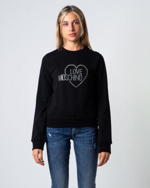 Felpa senza cappuccio Love Moschino Logo Core Nero – 53462