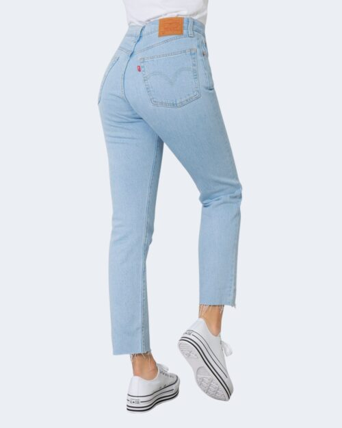 Jeans mom Levi's® 501 CROP SAMBA GOAL Denim chiaro – 71492