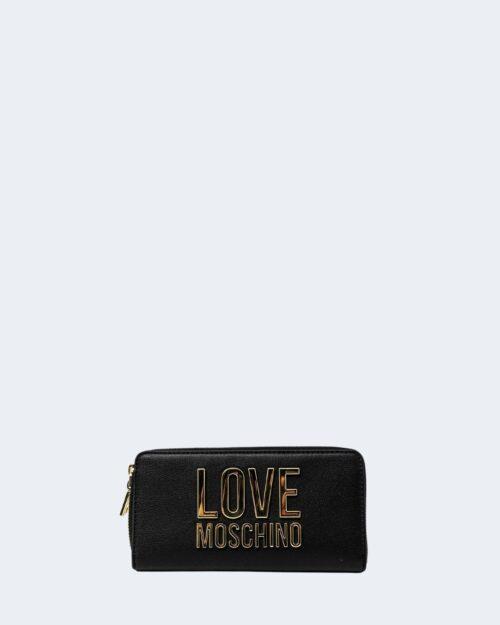 Portafoglio grande Love Moschino BONDED Nero – 72311