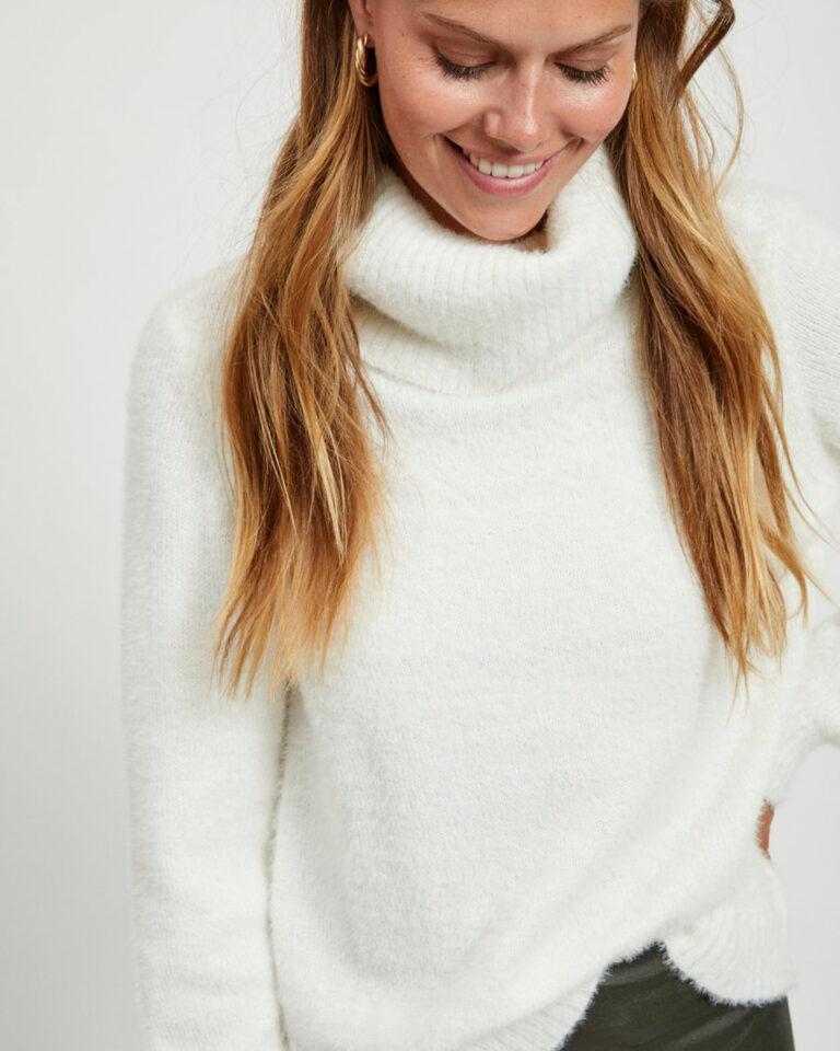 Maglione Vila Clothes FEAMI Bianco - Foto 3