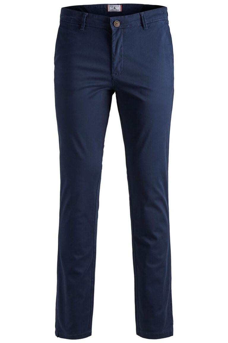 Pantaloni slim Jack Jones MARCO BOWIE Blue scuro - Foto 1