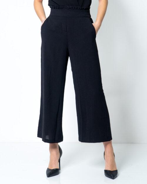 Pantaloni a palazzo Vila Clothes Rasha HW Cropped Wide Pant Nero – 42508