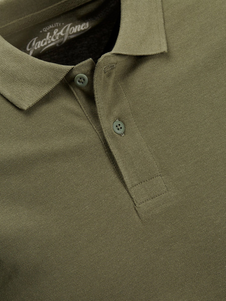 Polo manica corta Jack Jones NOOS BASIC Verde Oliva - Foto 3