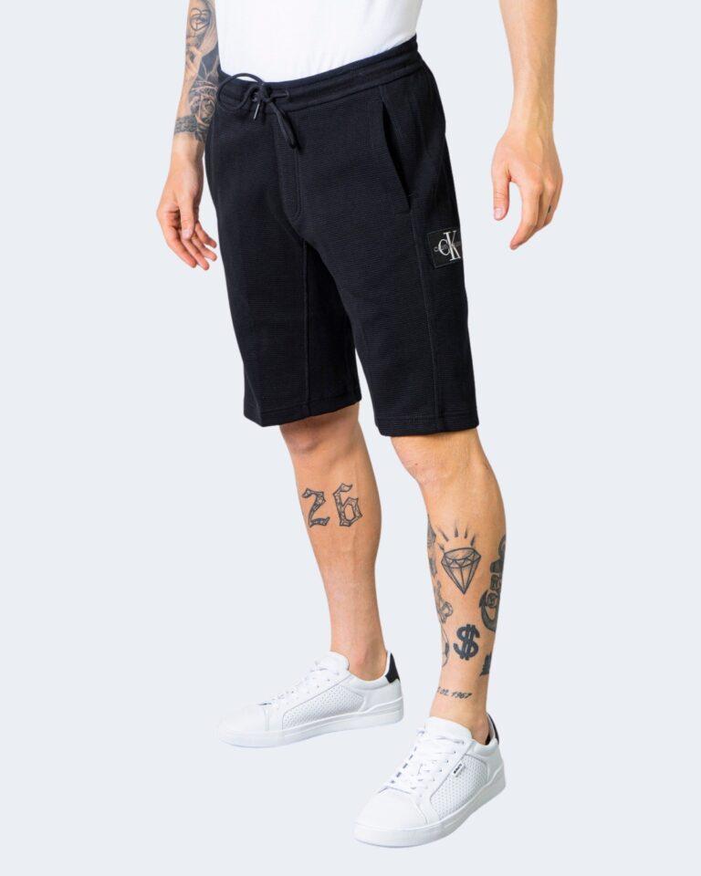 Shorts Calvin Klein Jeans MONOGRAM BADGE Nero - Foto 1