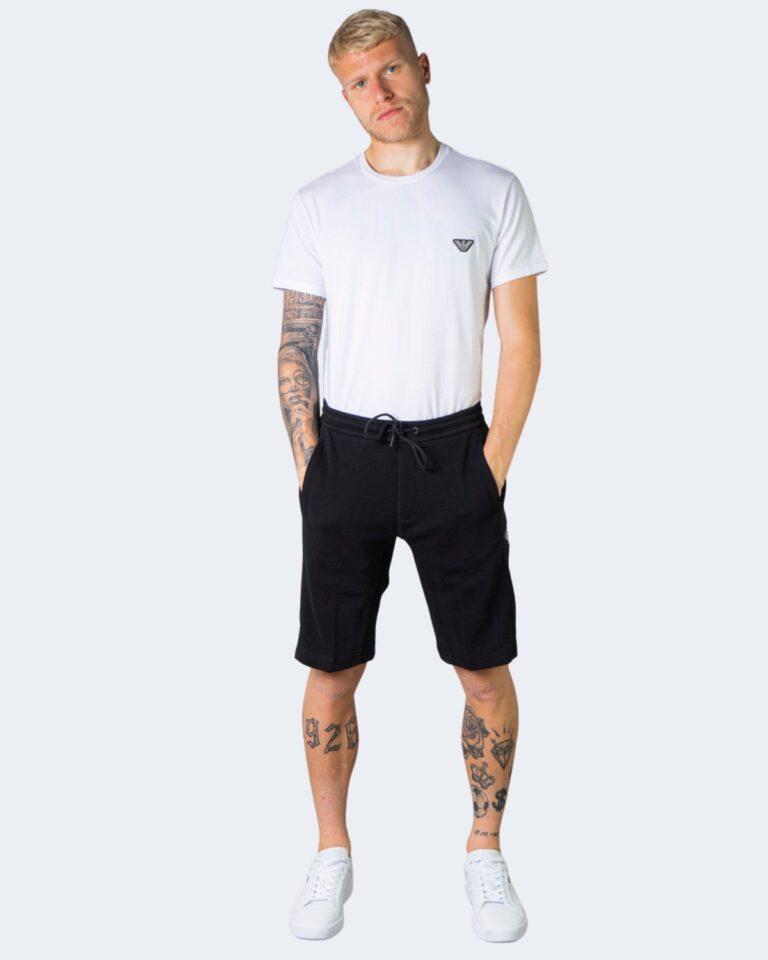 Shorts Calvin Klein Jeans MONOGRAM BADGE Nero - Foto 2
