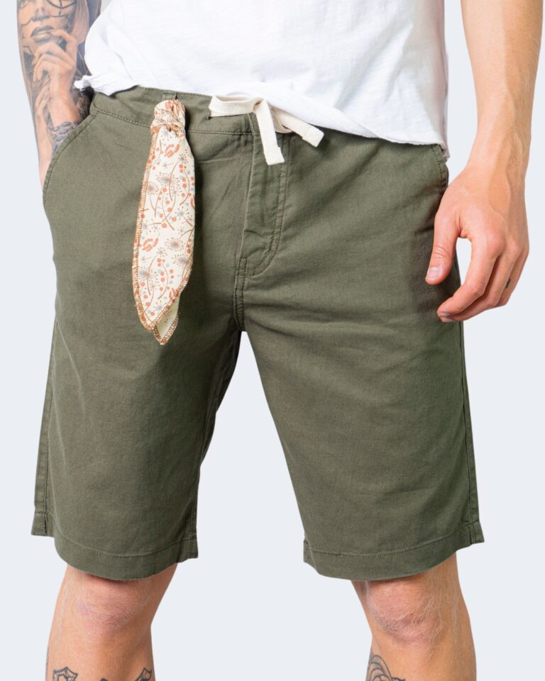 Shorts Idra TINTA UNITA LACCIO Verde Oliva - Foto 1