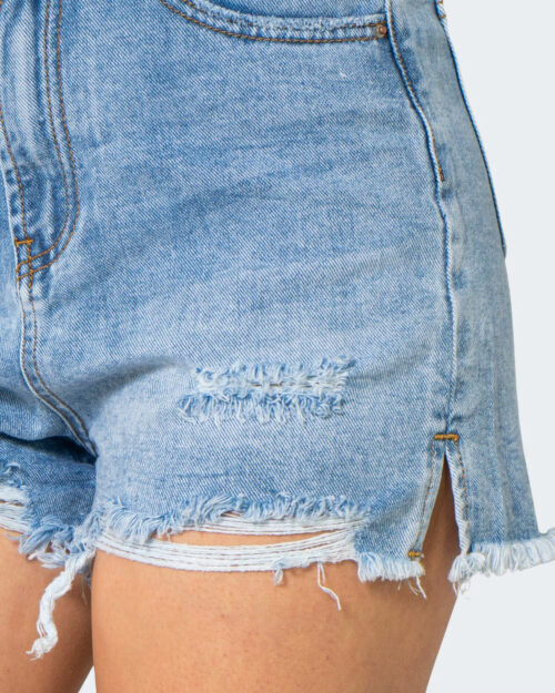 Shorts One.0 SFRANGIATO Denim chiaro - Foto 3