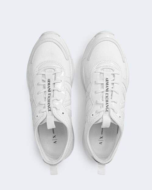 Sneakers Armani Exchange MICRO SUEDE Bianco - Foto 3