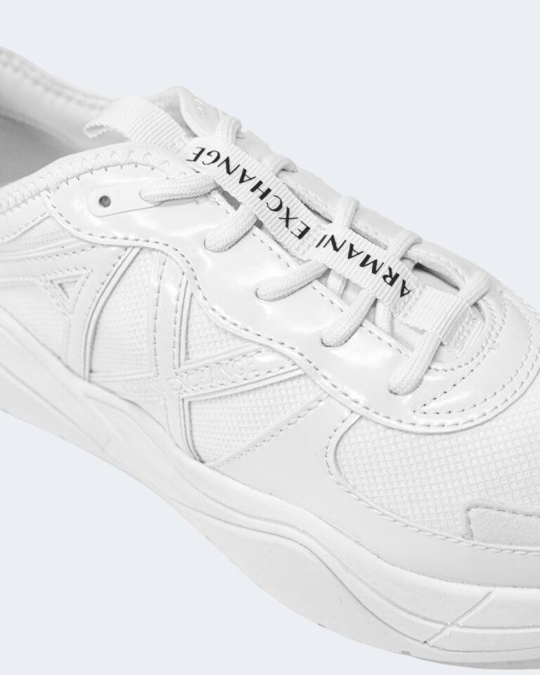 Sneakers Armani Exchange MICRO SUEDE Bianco - Foto 4