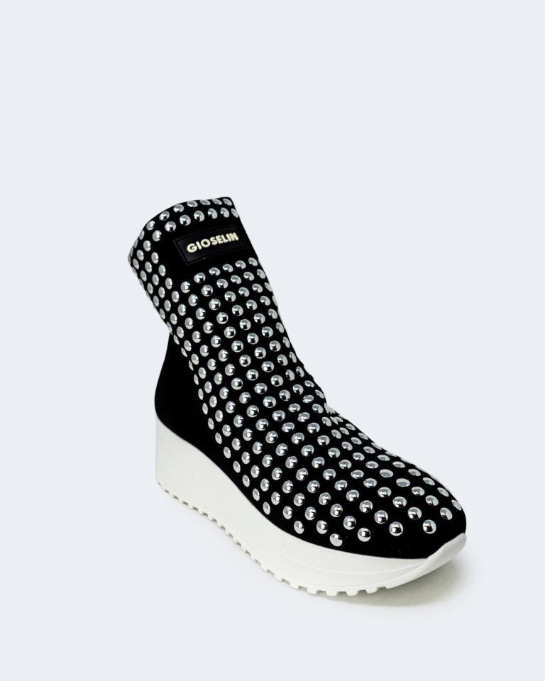 Sneakers Gioselin LIGHT FLAT STUDS CON BORCHIE Nero - Foto 3