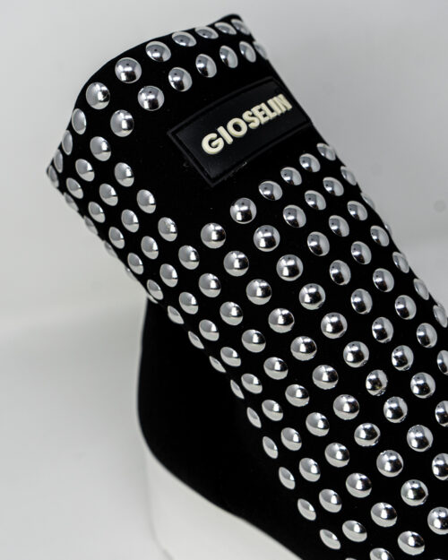 Sneakers Gioselin LIGHT FLAT STUDS CON BORCHIE Nero - Foto 4