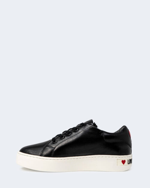 Sneakers Love Moschino ZIP LATERALE STAMPA LOGO Nero – 72397