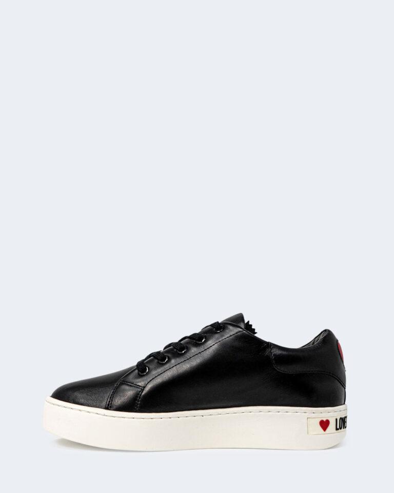 Sneakers Love Moschino ZIP LATERALE STAMPA LOGO Nero - Foto 2