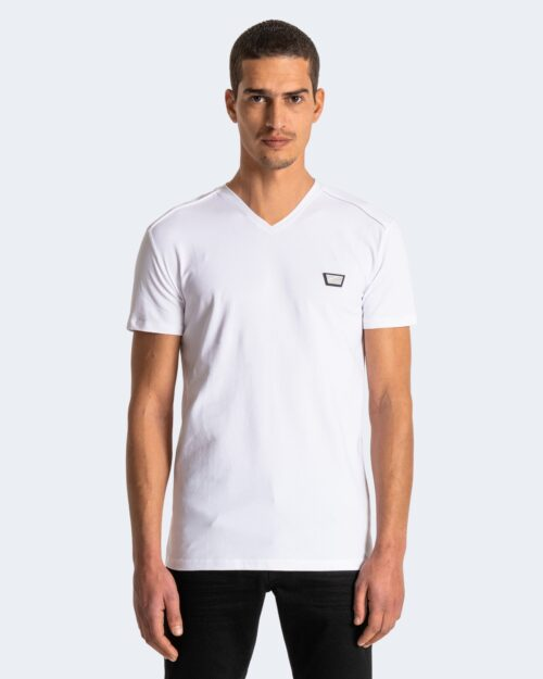 T-shirt Antony Morato LOGO PICCOLO SILVER Bianco – 71571