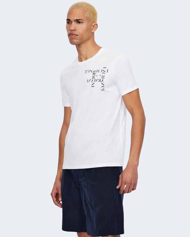 T-shirt Armani Exchange LOGO CRUCIVERBA Bianco - Foto 1