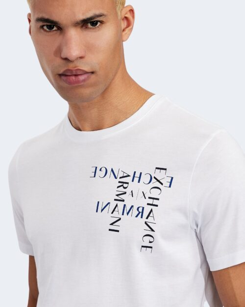 T-shirt Armani Exchange LOGO CRUCIVERBA Bianco - Foto 3