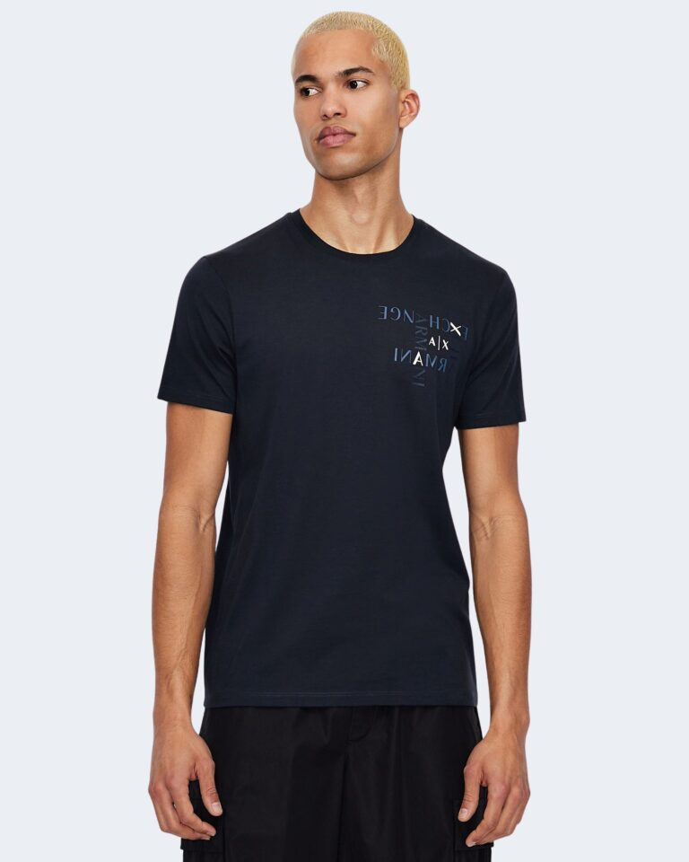 T-shirt Armani Exchange LOGO CRUCIVERBA Blu - Foto 1