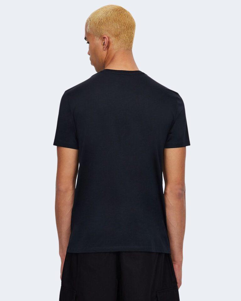 T-shirt Armani Exchange LOGO CRUCIVERBA Blu - Foto 3