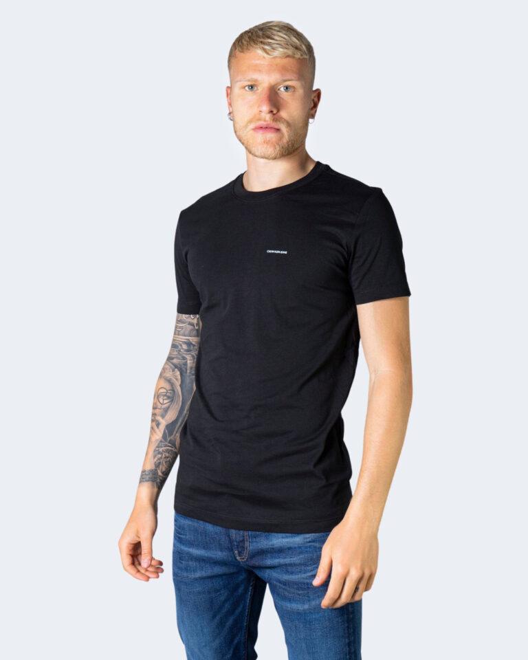 T-shirt Calvin Klein Jeans 2 PACK Nero - Foto 4
