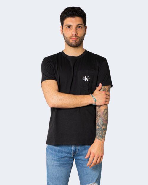T-shirt Calvin Klein MONOGRAM POCKET Nero – 64615