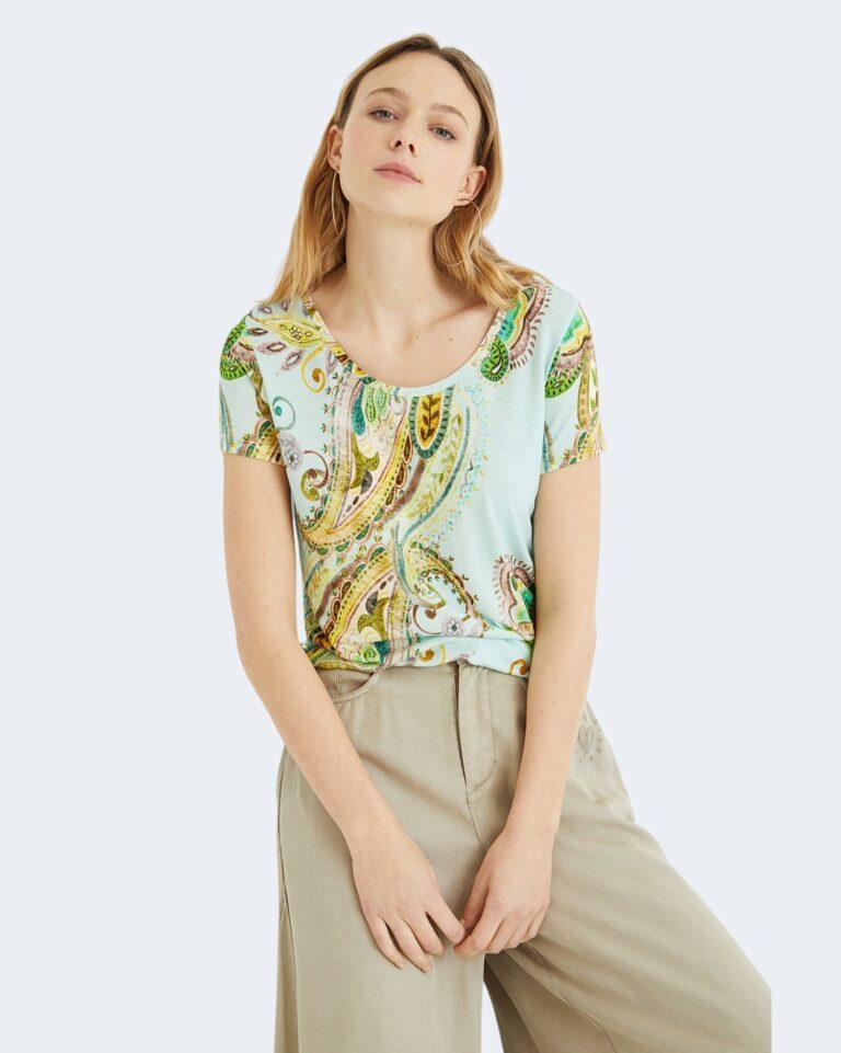 T-shirt Desigual MANDRAGORA Celeste - Foto 1