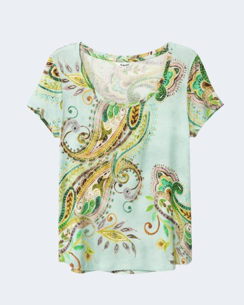 T-shirt Desigual MANDRAGORA Celeste - Foto 3