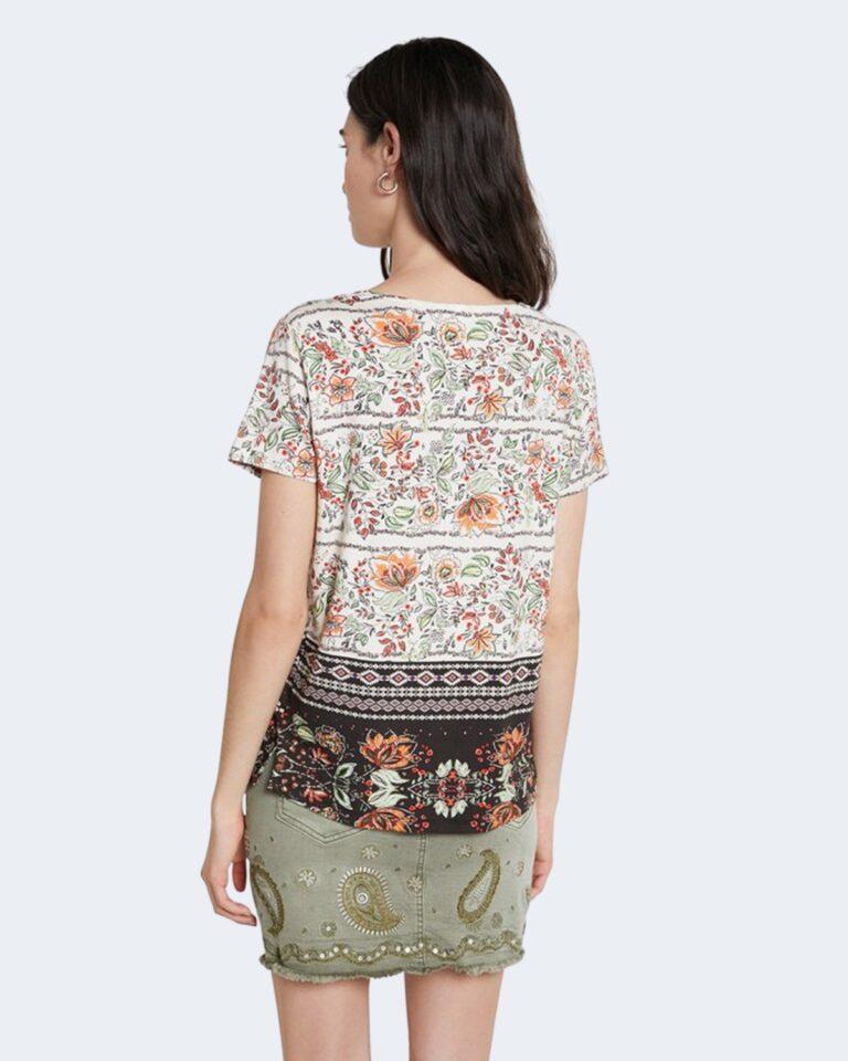 T-shirt Desigual CRACOVIA Panna - Foto 3