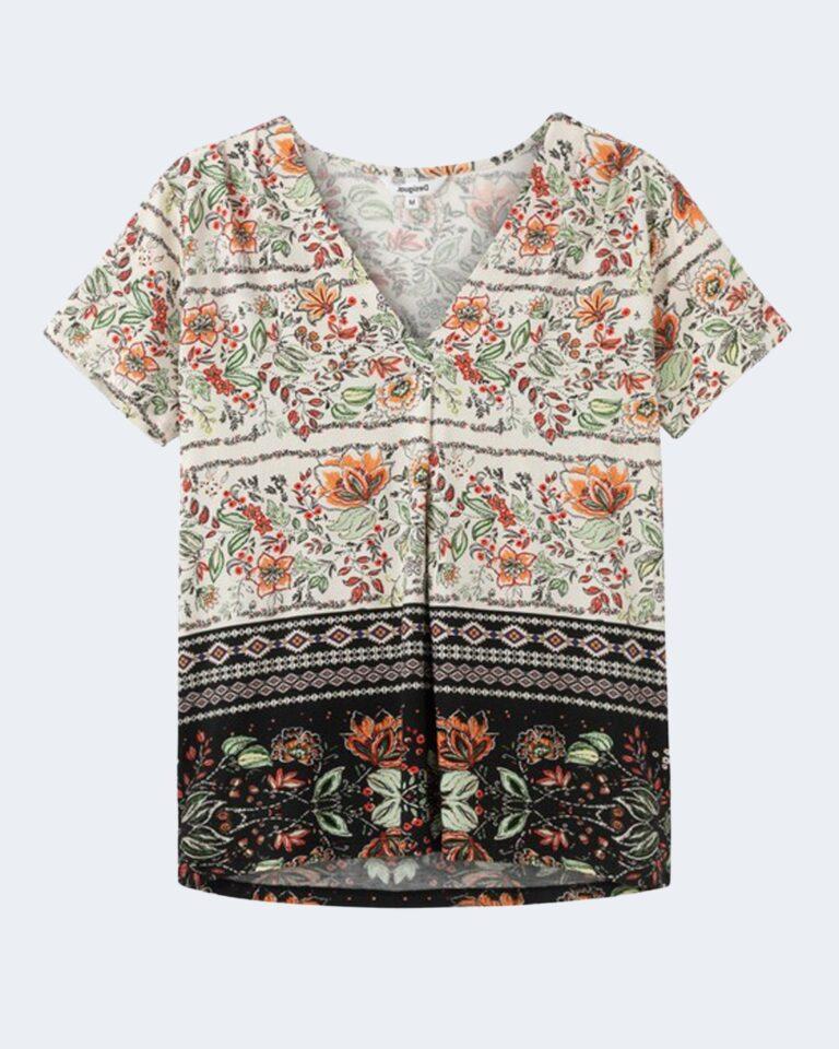 T-shirt Desigual CRACOVIA Panna - Foto 4
