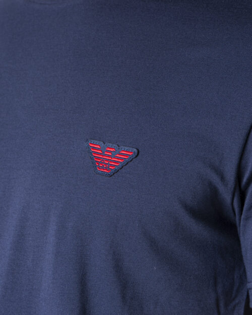 T-shirt Emporio Armani Underwear INTIMA Crew Neck Blu - Foto 3