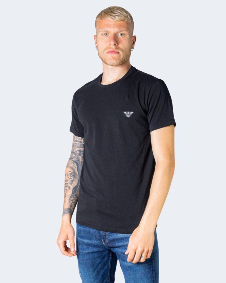T-shirt Emporio Armani Underwear INTIMA Crew Neck Nero - Foto 1