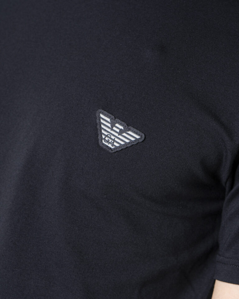 T-shirt Emporio Armani Underwear INTIMA Crew Neck Nero - Foto 3
