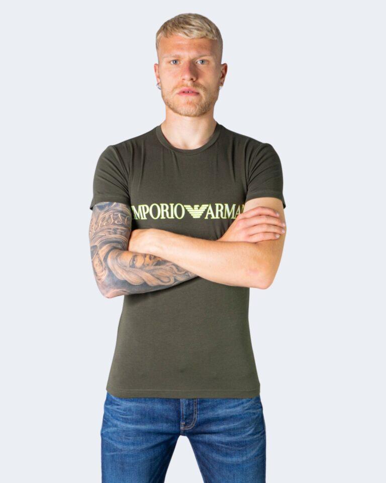 T-shirt Emporio Armani Underwear INTIMA Crew Neck Verde Oliva - Foto 1
