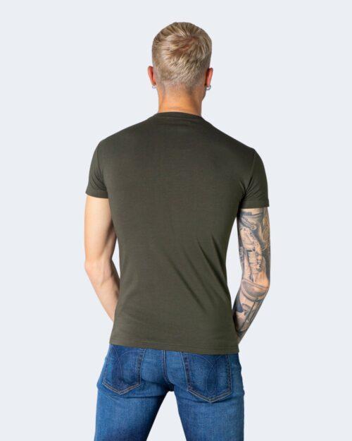 T-shirt Emporio Armani Underwear INTIMA Crew Neck Verde Oliva - Foto 3