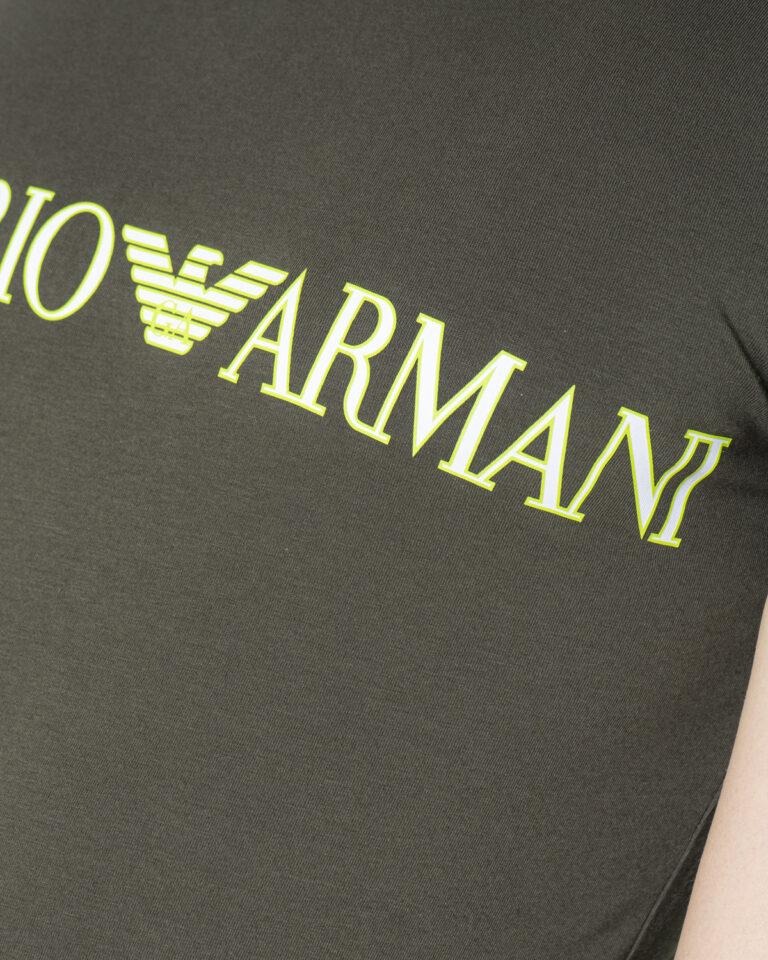 T-shirt Emporio Armani Underwear INTIMA Crew Neck Verde Oliva - Foto 4