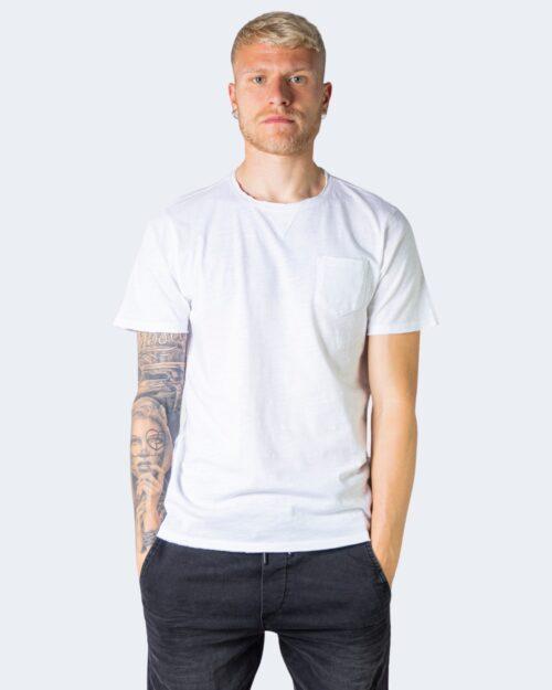 T-shirt Idra TINTA UNITA CON TASCHINO Bianco – 71180