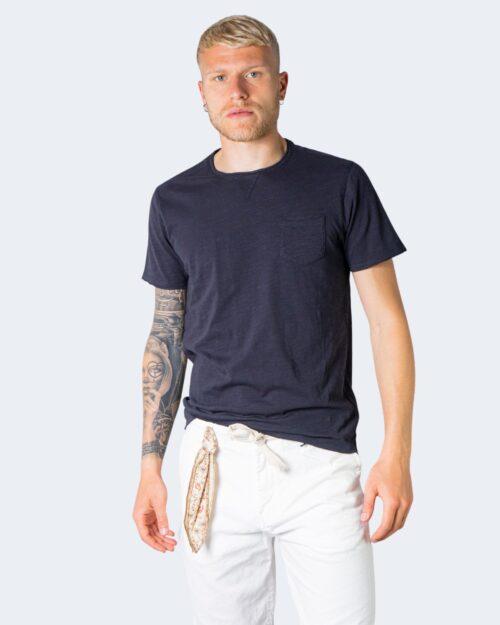 T-shirt Idra TINTA UNITA CON TASCHINO Blu – 71180