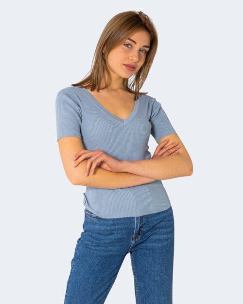T-shirt Jacqueline de Yong NANNA Celeste - Foto 1