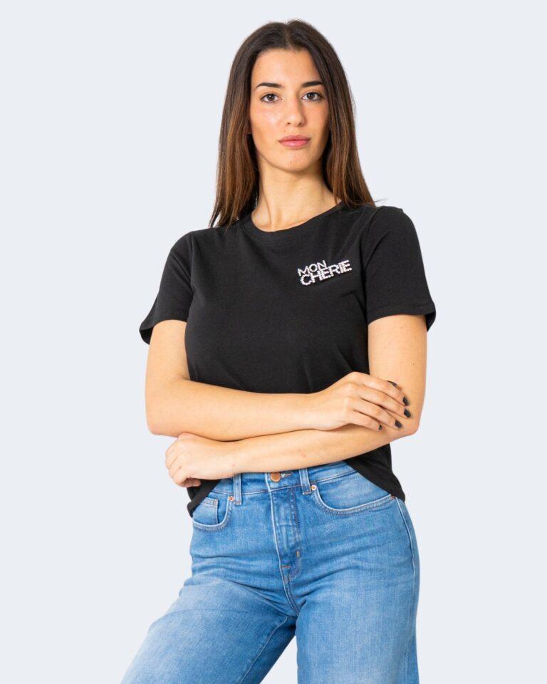 T-shirt Jacqueline de Yong DING Nero - Foto 1