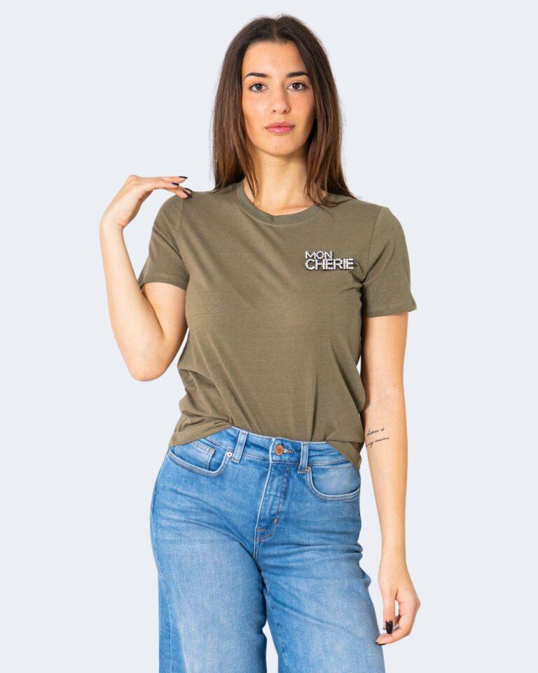T-shirt Jacqueline de Yong DING Verde Oliva - Foto 1