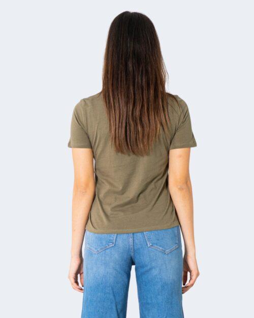 T-shirt Jacqueline de Yong DING Verde Oliva - Foto 4