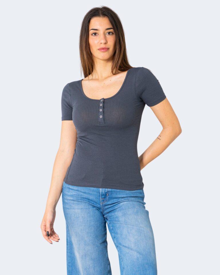 T-shirt Pieces Kitte SS Top Noos BC Blu - Foto 1