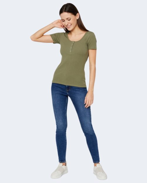 T-shirt Pieces Kitte SS Top Noos BC Verde – 71472