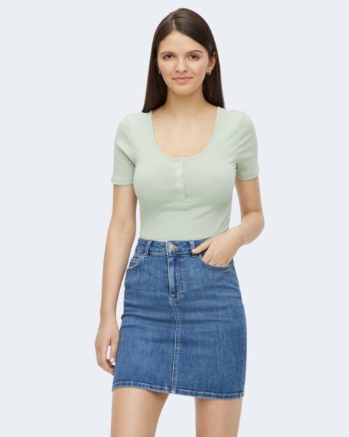 T-shirt Pieces Kitte SS Top Noos BC Verde ice – 71472