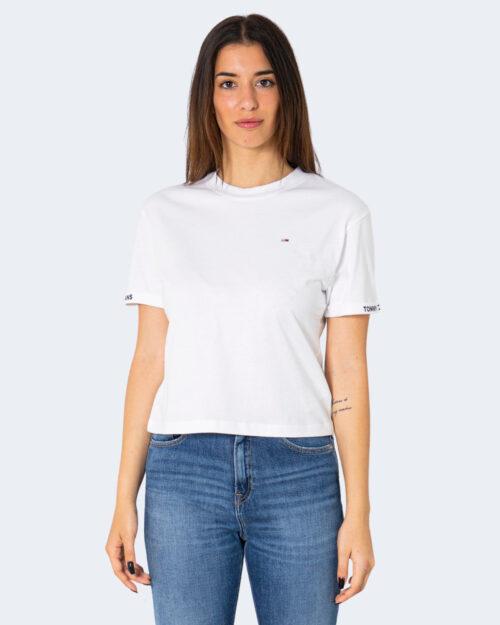 T-shirt Tommy Hilfiger CROP BRANDED Bianco – 71471