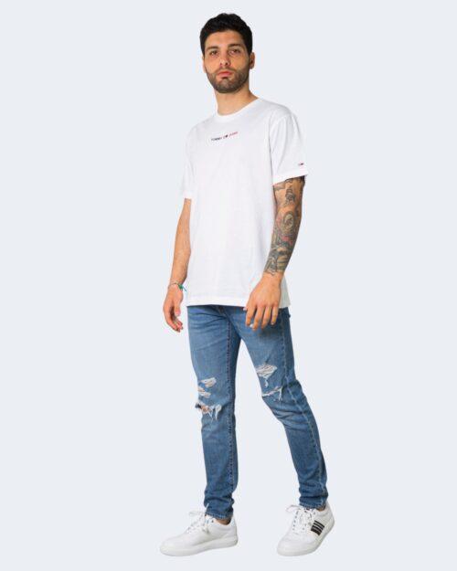 T-shirt Tommy Hilfiger LINEAR Bianco – 64865
