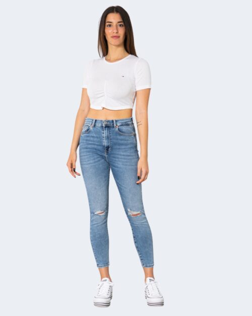 T-shirt Tommy Hilfiger CROP RUCHE Bianco – 64975