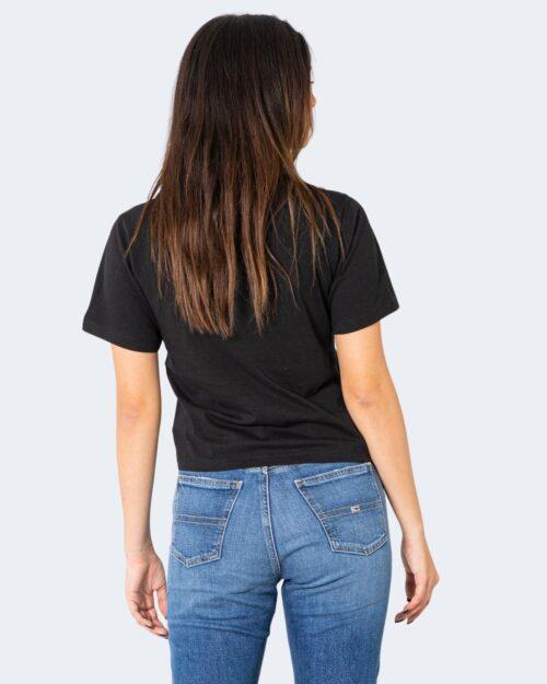 T-shirt Tommy Hilfiger Jeans CROP MODERN LOGO Nero - Foto 3