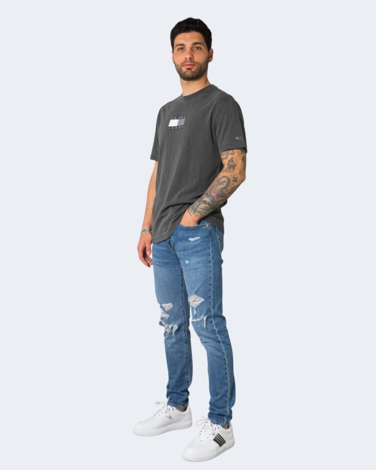 T-shirt Tommy Hilfiger Jeans TONAL FLAG Nero - Foto 2